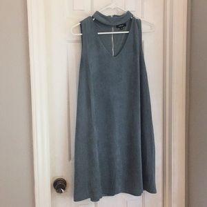 Teal velvet dress